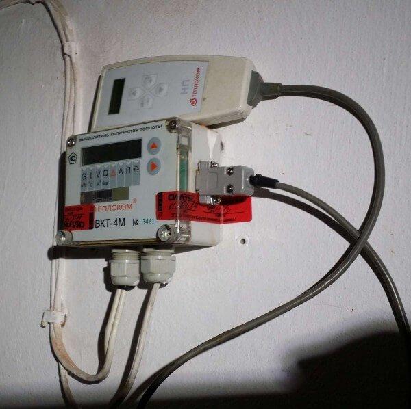 Съем данных о теплопотреблении с ВКТ4
